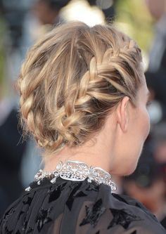 Braided Updo   The 50 Best Celebrity Braids of All Time   StyleCaster