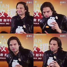 Sebastian, The Martian Press tour, China.