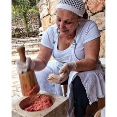 Suzanne and her famous kebbe nayye LocalsOfLebanon (Zgharta)