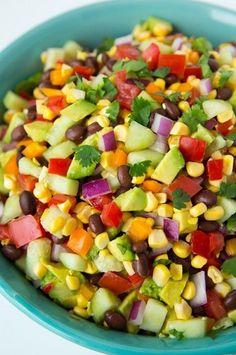 Mexican Chopped Salad with Greek Yoghurt Cilantro Lime Ranch