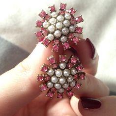 Beautiful pink and white earrings Beautiful pink and white earrings Jewelry Earrings