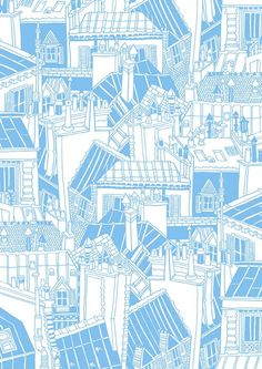 Buildings pattern - great idea for cityscapes