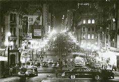 Uma charmosa e elegante Avenida São João em meados da década de 50.  www.saopauloantiga.com.br