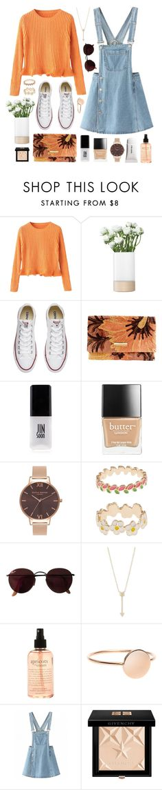 """""""Brentwood"""" by sophiehackett ❤ liked on Polyvore featuring LSA International, Converse, Giorgio Armani, JINsoon, Butter London, Olivia Burton, Accessorize, Ray-Ban, EF Collection and philosophy"""