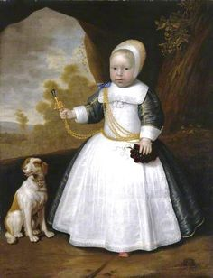 1660 Jan Albertsz. Rotius (Dutch artist,  1624-1666) Boy with a Dog