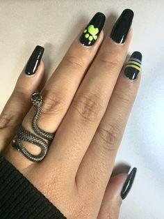 Cute Acrylic Nails, Cute Nails, Ladybug Nail Art, Anime Nails, Dream Nails, Holiday Nails, Black Nails, Nail Arts, Nail Inspo