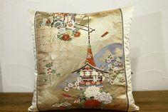 Japanese Pillows  Obi pillow cover  Pillow Case by kimonostyle, $92.00