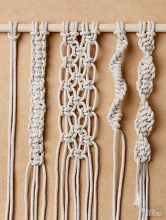 Learn how to tie four must-know knots essential to macramé. #artsandcraftsvideos,