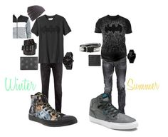 """Batman Men's"" by susie-rue on Polyvore featuring Topman, Old Navy, Dsquared2, Converse, Changes, Vans, Motorola, Rip Curl, Alexander McQueen and Lucien Pellat-Finet"