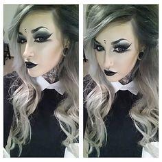 My First GRWM! Gothy Avant Garde Makeup- Extreme Winged Liner & Black Li...