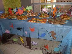 under the sea birthday party Birthday Pins, 1st Birthday Parties, 4th Birthday, Birthday Ideas, Event Ideas, Party Ideas, Underwater Birthday, Octonauts Party, Little Mermaid Birthday
