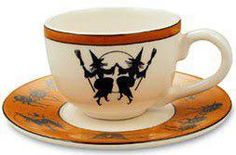 Dancing witches teacup