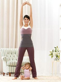 Your Post-Pregnancy Workout  This article is actually what made me pick up a fitness magazine I saw at my OB's office while I was waiting for my appointment when I was 6 months pregnant.  I even did some of these moves while I was pregnant.  I stayed active my whole pregnancy and my post pregnancy weight was less than my pre pregnancy weight.