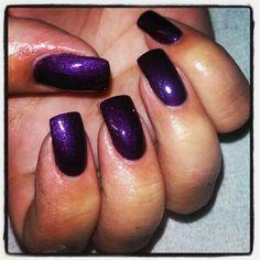 Purple shellac on acrylic