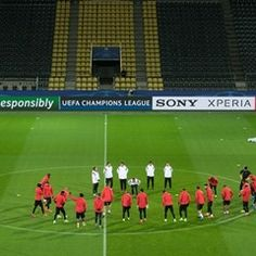 S.L Benfica team training session ahead of Champions League match with Borussia Dortmund