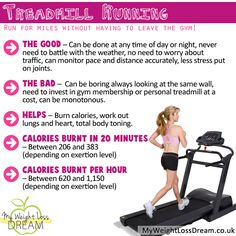Running on the treadmill facts for weight loss. #weightloss #weightlosstips