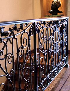 Wrought Iron rail, entirely hand made