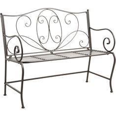banc-jardin-fer-forge-blanc-1 | Garden | Pinterest | Gardens