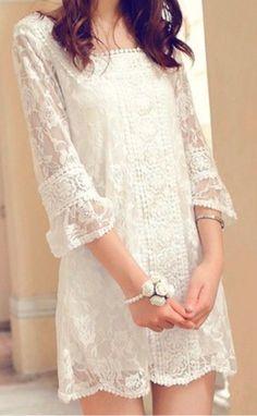 sweet white lace dress