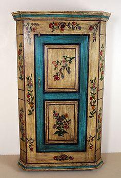 bemalter bauernschrank mobiliar interieur ebay bauernmalerei pinterest bauernschrank. Black Bedroom Furniture Sets. Home Design Ideas