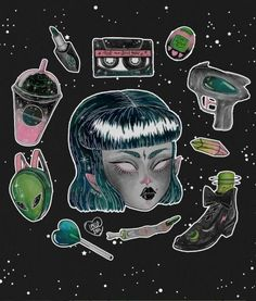 Space Oddity Art Print by Loll3