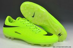 Nike Hypervenom Phelon AG Jnr Boots Fluorescent yellow/black For Sale