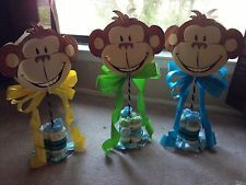 Baby Shower Monkey Decor- Centerpieces