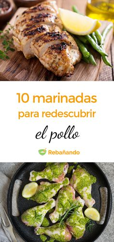 10 MARINADAS para redescubrir la carne de pollo - Influence Tutorial and Ideas Cajun Chicken Recipes, Mexican Food Recipes, Slimming World Chicken Recipes, Healthy Recepies, Daily Meals, Healthy Meal Prep, Kitchen Recipes, Vegetable Dishes, I Love Food