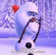 frozen | Disney Olaf.its so cute.its like a little baby unicorn