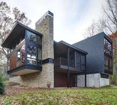 "998 Me gusta, 3 comentarios - Home Designs & Luxury Villas (@elegantlife) en Instagram: ""Arboretum House Follow @man.explore for more! Milwaukee, Wisconsin Designed by Bruns Architecture…"""