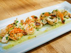 Scampi recipe from Geoffrey Zakarian via Food Network #seafoodrecipes