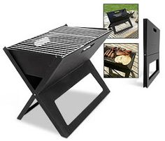 Grilling to Go: Flat-Folding, Ultra-Portable Outdoor BBQ Grill Bbq Grill, Grilling, Grill Oven, Folding Bbq, Bbq King, Kombi Home, Cargo Container Homes, Metal Projects, Patio Fire Pits