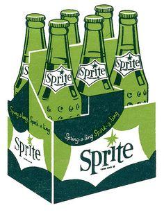 Sprite Spark-a-ling #illustration #vintage