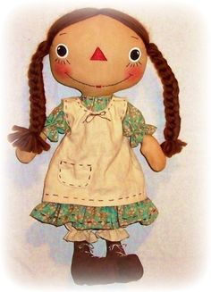 Primitive Doll PATTERN PDF sewing Pattern Rag Doll by OhSewDollin to buy at Etsy