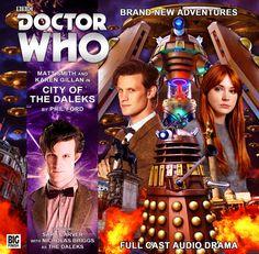 City of the Daleks Big Finish, The Rouge, Audio Drama, Karen Gillan, Dalek, Matt Smith, Cd Cover, Time Lords, Dr Who
