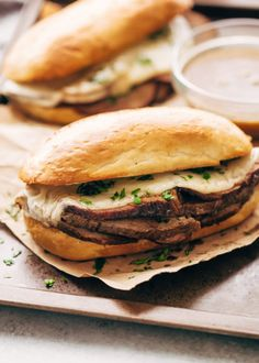 Learn how to make the BEST slow cooker french dip sandwiches. My recipe uses fresh ingredients and makes tender french dip sandwiches in the crockpot! Best Slow Cooker, Slow Cooker Soup, Slow Cooker Recipes, Soup Recipes, Crockpot Meals, Sandwiches, Cream Sauce Recipes, Pepperocini Recipes, Chicken