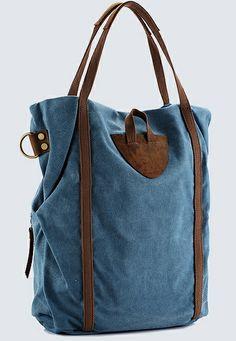 """*canvastasche messengerbag """"time of my live"""" * von WirSindTeilzeithippies auf DaWanda.com"""