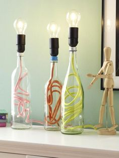 Flaschenlampen selber machen: So einfach geht's These great lamps can currently be seen in man