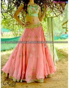 Look graceful and sophisticated at the upcoming wedding party by wearing this Reet Glamour Green And Pink Embroidered Lehenga. Featuring an eye-catching design and pattern, this set will surely make you stand out from the crowd. Team this set with colourful bangles and a pair of trendy footwear to look ravishing. Made from net fabric to ensure optimum.  For more details whatsapp us: +919915178418