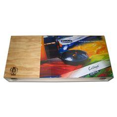 Schmincke COLLEGE Acrylfarben Holzkasten 8 x 200ml Farbenset706097 -