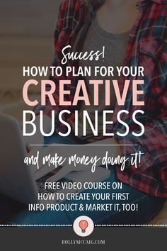 Wonder how to plan for your creative biz and make money doing it? It's not as hard as you think. Download my free workbook to help you earn passive income. via @hollymccaig