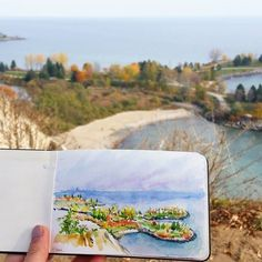 Tadaa!! A 20 minute sketch at Cathedral Bluffs Lookout 💕  #scarboroughbluffs #cathedralbluffs #torontoart #urbansketchers #torontoartist Scarborough Bluffs, Urban Sketchers, Toronto, Cathedral, Sketches, Photo And Video, Artist, Instagram, Drawings