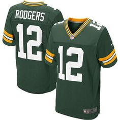 New Packers 12 Aaron Rodgers Nike Elite Jersey Green Team Color