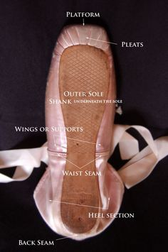 Under Shoe - What supports a dancer through the final bow. A good dancer NEVER blames the shoe, and I'm not going to lie - it's tempting to blame your footwear!