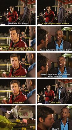 The Psych promo where Shawn steals a donut from the dead guy. Hahaha.