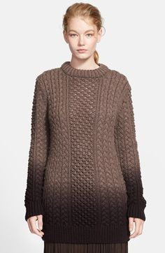 I. Want. This. Michael Kors Dip Dyed Aran Sweater available at #Nordstrom