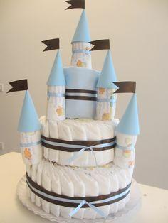 Diapers cake castle - torta pannolino castello