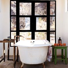 tub and window.. id never leave the bathroom!