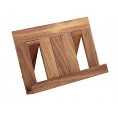 acacia wood recipe book holder