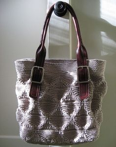 Miragamo Bag - the bag is knit in-the-round, top-down - Georgie Kajer - Ravelry free pdf pattern